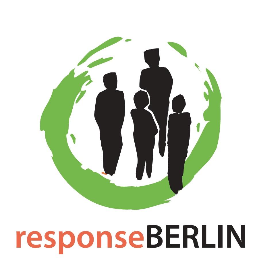 Engagement die deutSCHule Berlin; das Logo von responseBERLIN