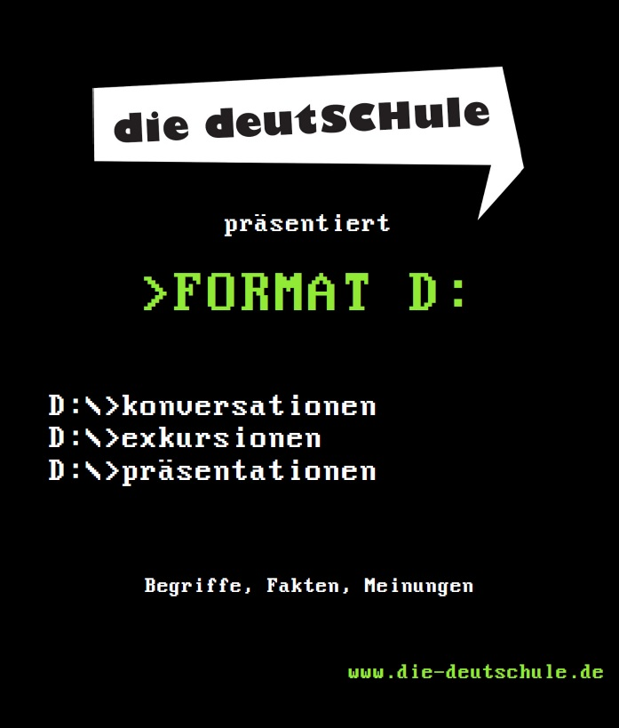 conversation course Berlin; the flyer of >Format D: