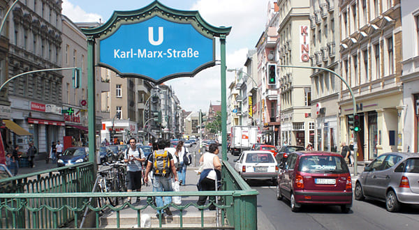 german classes Berlin; a picture of U-Bahnhof Karl-Marx-Straße in Berlin-Neukölln